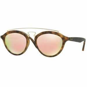 Ray-Ban Round Sunglasses W/Pink Mirrored Lens
